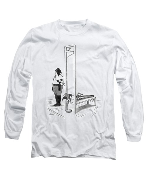 A Court Jester Is Awaiting The Guillotine Long Sleeve T-Shirt