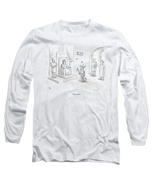 A Court Jester Juggles Balls And The Head Long Sleeve T-Shirt