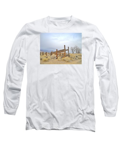 Long Sleeve T-Shirt featuring the photograph A Cowboys Echo by Marilyn Diaz