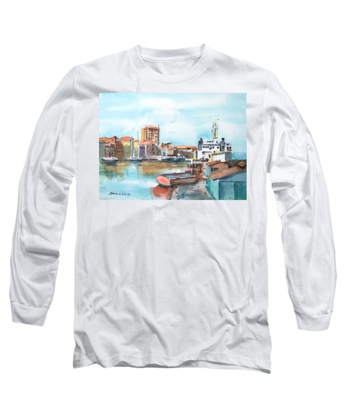 A Curacao Morning Long Sleeve T-Shirt by Debbie Lewis