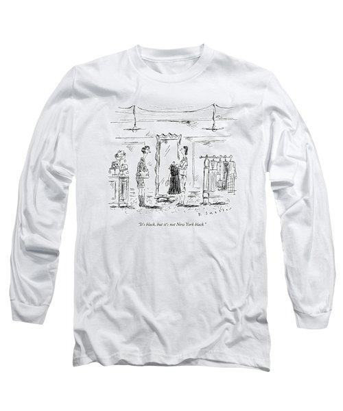 A Customer In A Dress Shop Speaks To A Saleswoman Long Sleeve T-Shirt