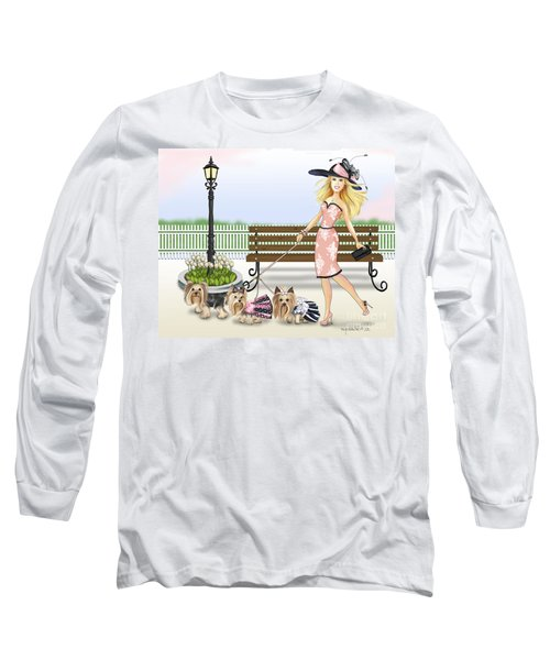 A Day At The Derby Long Sleeve T-Shirt by Catia Cho