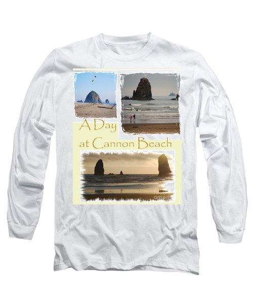 A Day On Cannon Beach Long Sleeve T-Shirt by Sharon Elliott