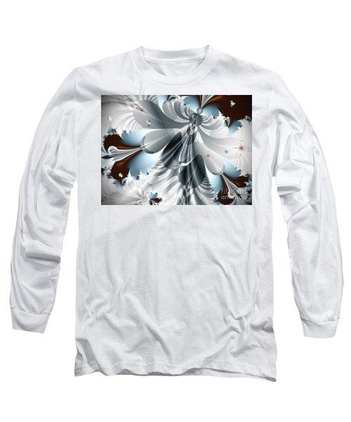 A Deeper Reflection Abstract Art Prints Long Sleeve T-Shirt by Valerie Garner