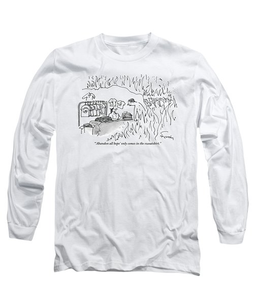A Devil-like Figure In Hell Sells T-shirts Long Sleeve T-Shirt