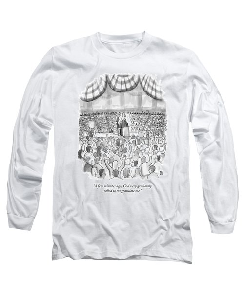 A Devil Speaking At A Massive Political Rally Long Sleeve T-Shirt