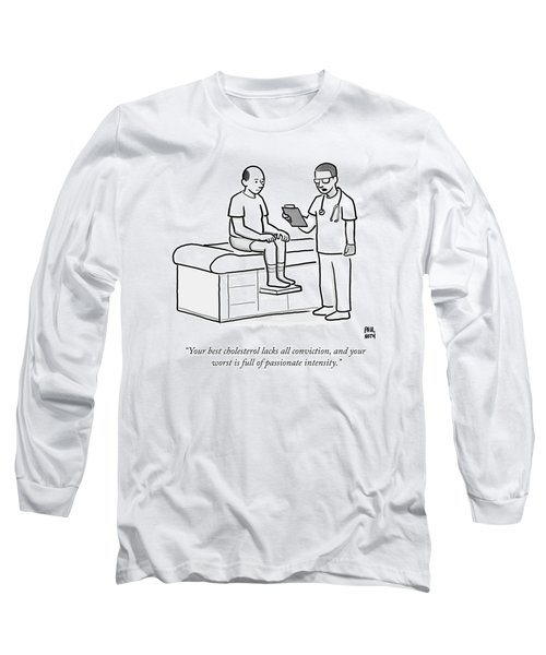 A Doctor Addresses A Patient In The Examination Long Sleeve T-Shirt