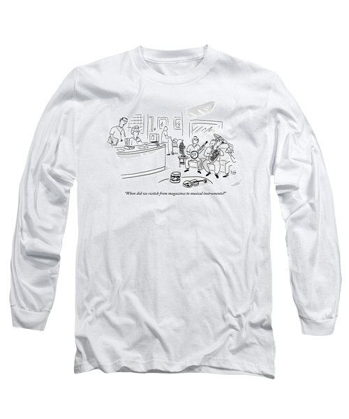 A Doctor Talks To A Receptionist At His Office Long Sleeve T-Shirt