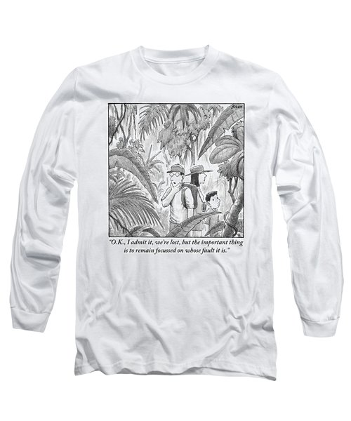 A Family Is Lost In The Depths Of A Jungle Long Sleeve T-Shirt