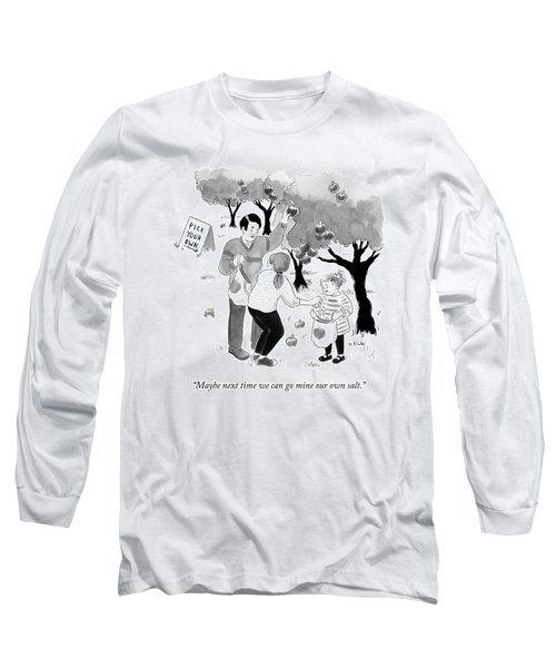 A Family Picks Apples Right From The Tree Long Sleeve T-Shirt