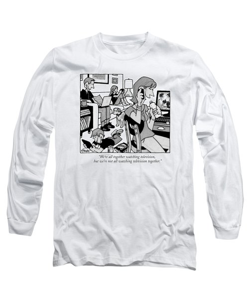 A Family Sits In A Living Room Long Sleeve T-Shirt