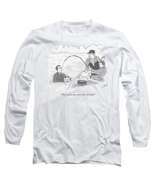 A Father And Son On A Fishing Trip Pull Long Sleeve T-Shirt