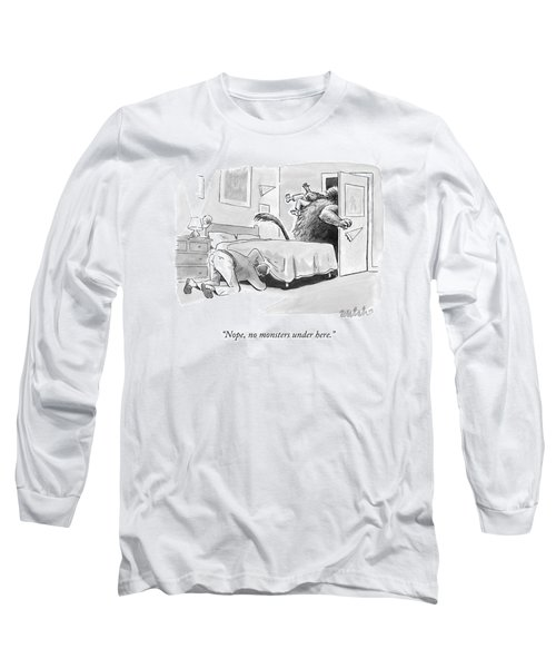 A Father Looks Under The Bed Long Sleeve T-Shirt