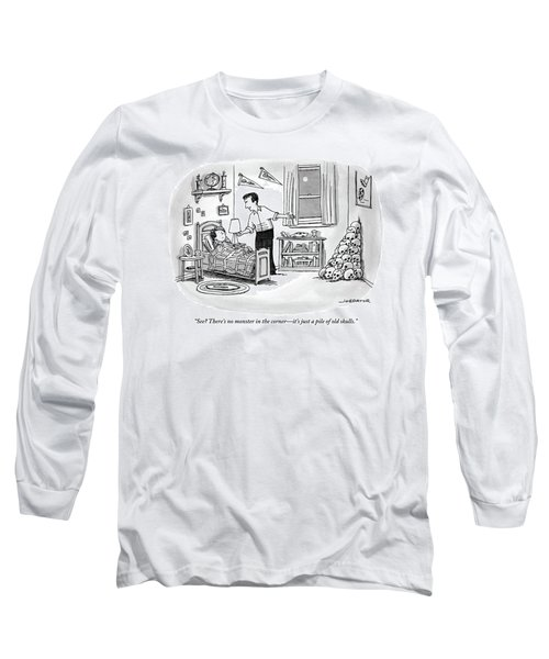 A Father Points To A Pile Of Skulls In The Corner Long Sleeve T-Shirt