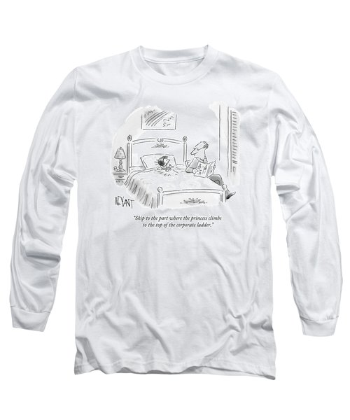 A Father Reads His Daughter A Bedtime Story Long Sleeve T-Shirt
