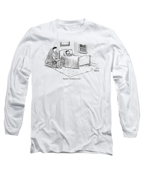 A Father Reads His Son A Bedtime Story Long Sleeve T-Shirt