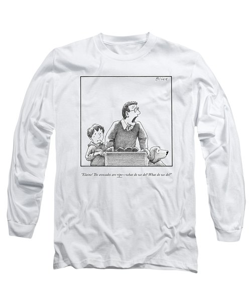 A Father, Son, And Dog All Worry At The Sight Long Sleeve T-Shirt