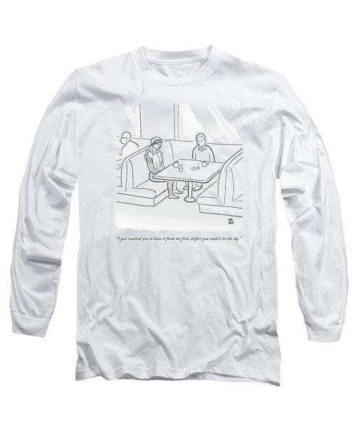 A Female Pilot And Her Boyfriend Sit Long Sleeve T-Shirt