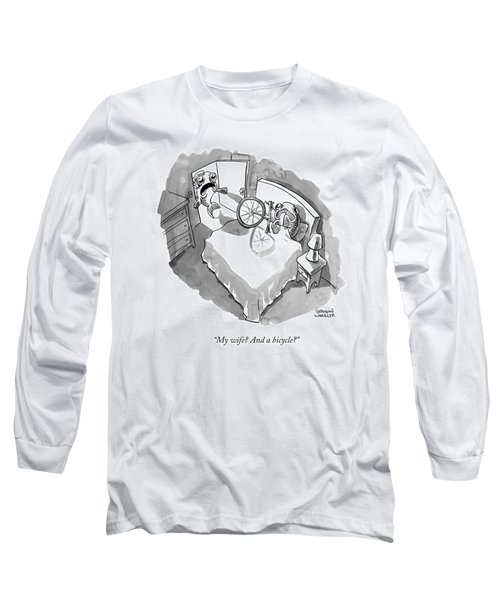 A Fish Walks In On Another Fish In Bed Long Sleeve T-Shirt