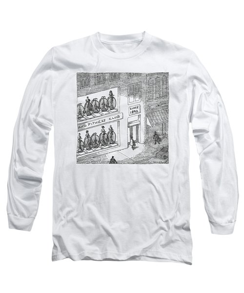 A Fitness Club With Sign Long Sleeve T-Shirt