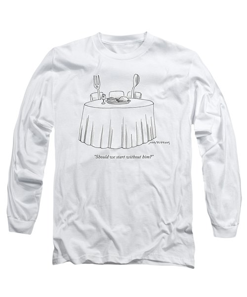 A Fork And A Spoon Sit At A Dinner Table Long Sleeve T-Shirt