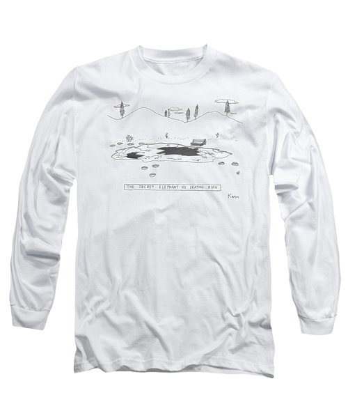 A Frozen Pond In A Snowy Winter.  The Surface Long Sleeve T-Shirt