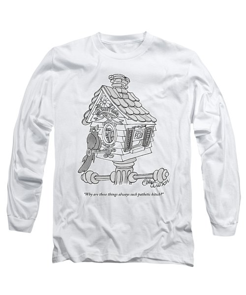 A Frustrated-looking Bird Perches Himself Long Sleeve T-Shirt