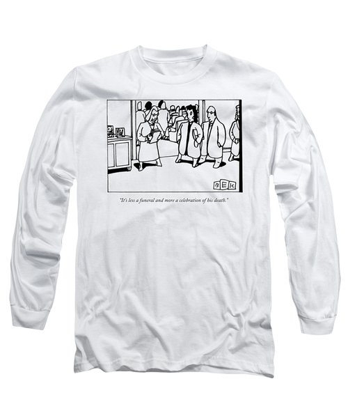 A Funeral Mourner Speaks To A Couple Long Sleeve T-Shirt