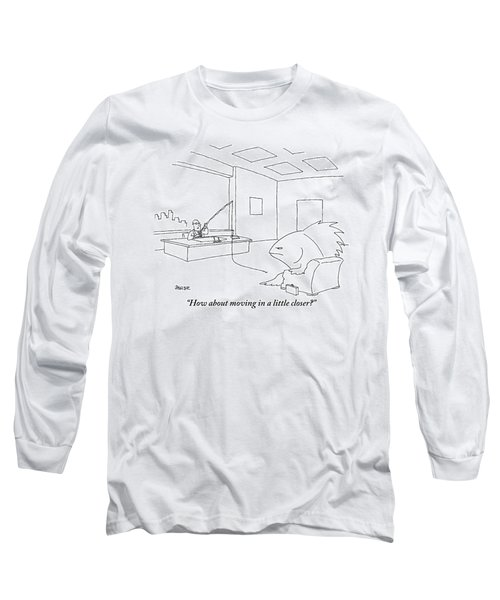 A Giant, Disgruntled-looking Fish Sits Long Sleeve T-Shirt
