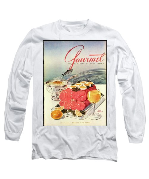 A Gourmet Cover Of Poached Salmon Long Sleeve T-Shirt