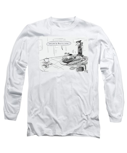 A Greasy Plate Of Pancakes Long Sleeve T-Shirt