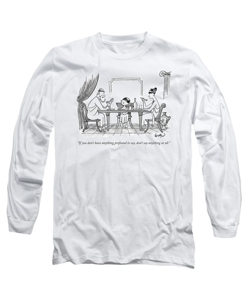 A Greek Family Is Seen Eating At The Table Long Sleeve T-Shirt