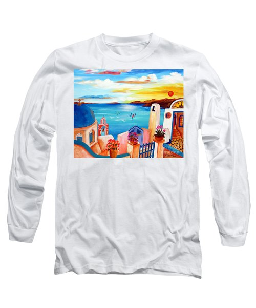 A Greek Seaview Long Sleeve T-Shirt