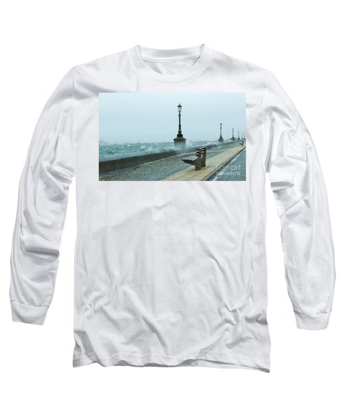 A Grey Wet Day By The Sea Long Sleeve T-Shirt