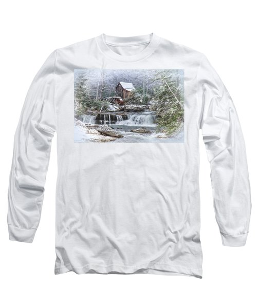 A Gristmill Christmas Long Sleeve T-Shirt by Mary Almond