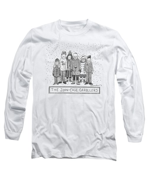 A Group Of Carolers Stands In The Snow Long Sleeve T-Shirt