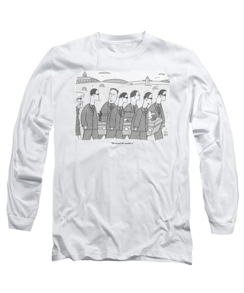 A Group Of Mourners At A Funeral Are Carrying Long Sleeve T-Shirt
