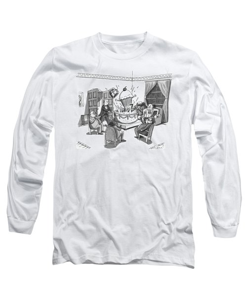 A Group Of Overweight Gentlemen Are Sitting Long Sleeve T-Shirt