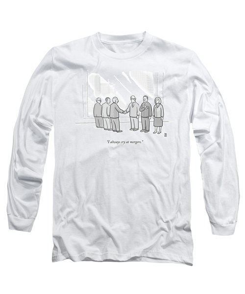 A Group Of People In A Boardroom Watch As Two Men Long Sleeve T-Shirt