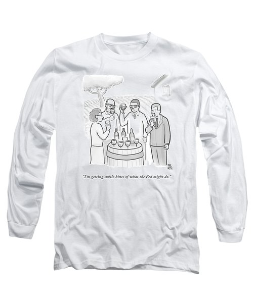 A Group Sample Wine At A Wine Tasting Vineyard Long Sleeve T-Shirt