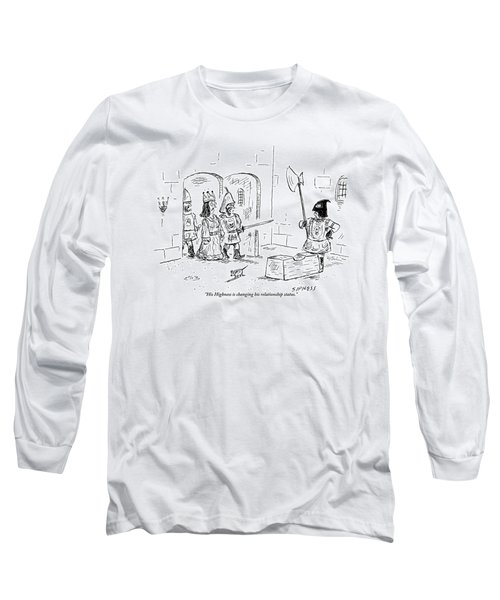 A Guard Leading A Queen Speaks To An Executioner Long Sleeve T-Shirt