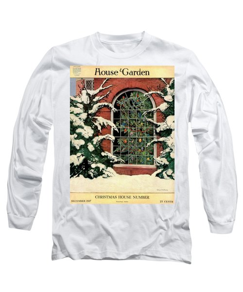 A House And Garden Cover Of A Christmas Tree Long Sleeve T-Shirt