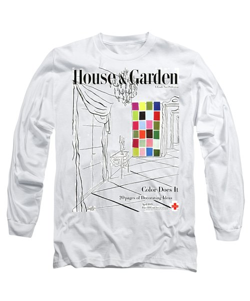 A House And Garden Cover Of Color Swatches Long Sleeve T-Shirt