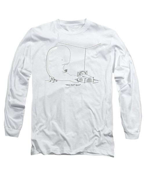 A Huge Whale Reads His Child Also A Whale Moby Long Sleeve T-Shirt
