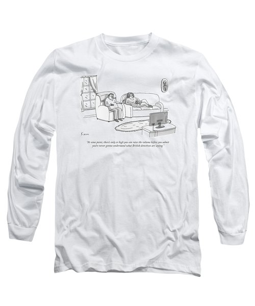 A Husband And Wife Watch Television Long Sleeve T-Shirt