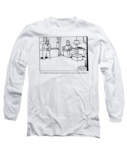 A Husband Says To His Wife In Their Livingroom Long Sleeve T-Shirt