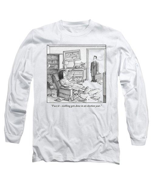 A Husband Walks Into A Trashed Room Long Sleeve T-Shirt