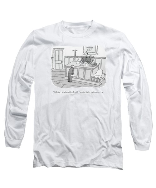 A Judge Washes Dishes In A Sink At His Desk Long Sleeve T-Shirt