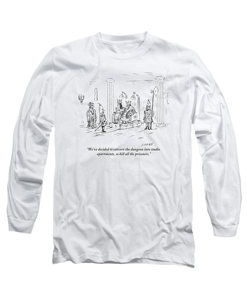 A King And Queen In The Royal Court Give Orders Long Sleeve T-Shirt
