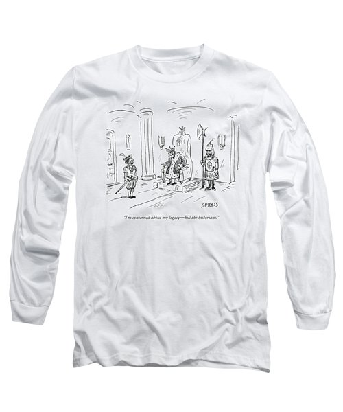 A King Gives Orders To His Soldier Long Sleeve T-Shirt